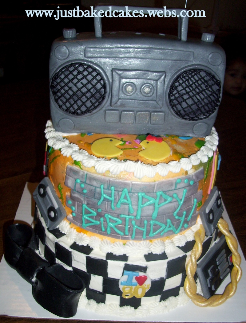 80s Themed Boombox Birthday Cake