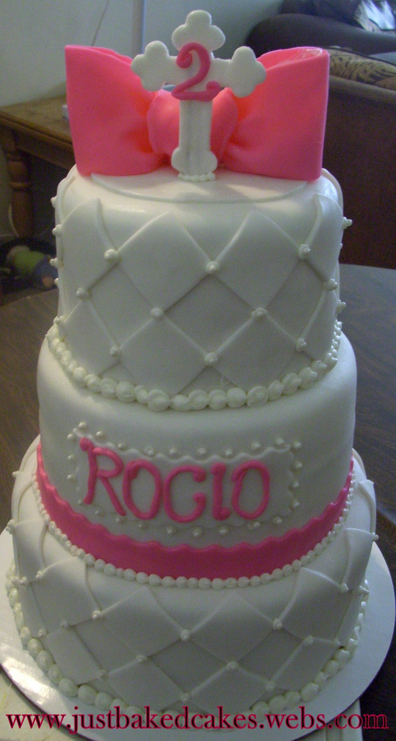 3 Tier Baptism Birthday Cake