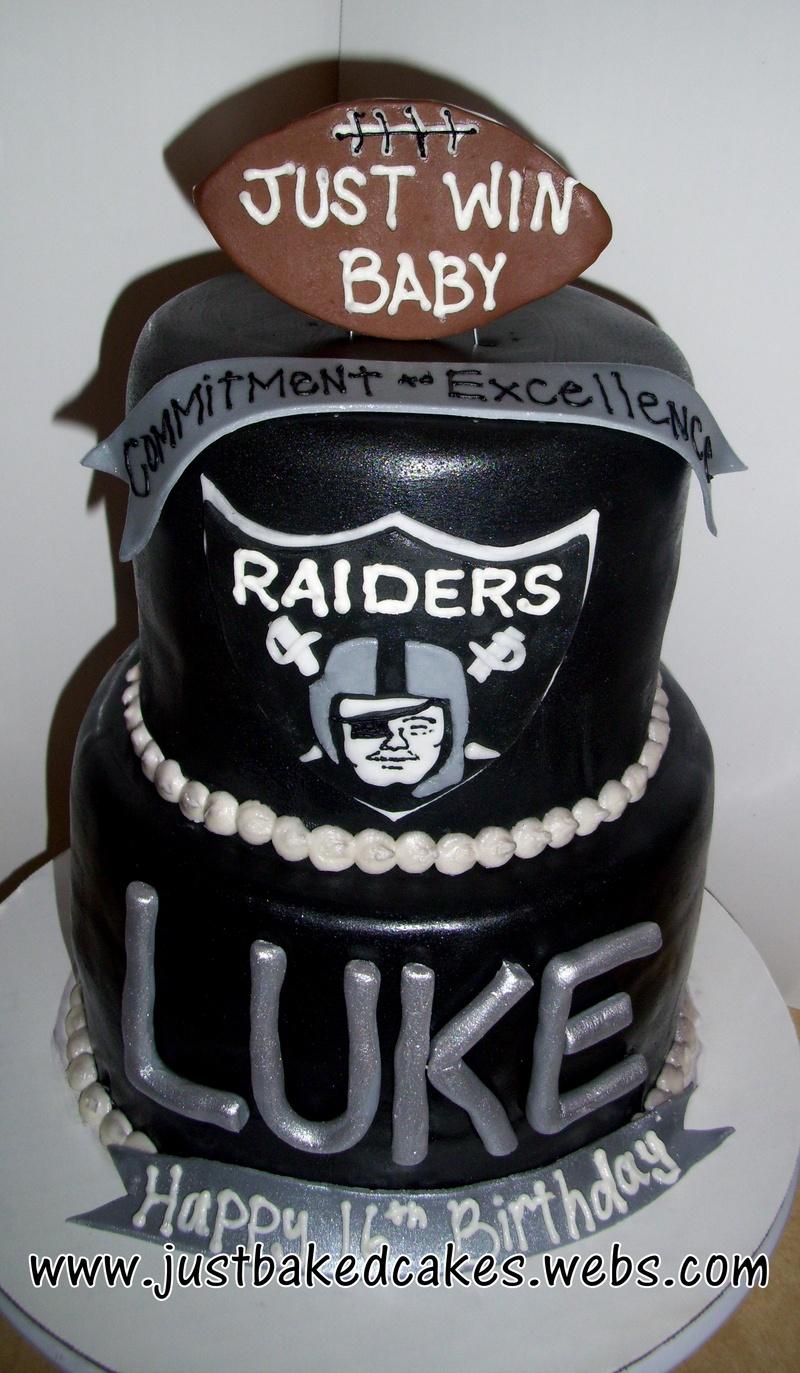 Astounding Oakland Raiders Cake Funny Birthday Cards Online Inifofree Goldxyz