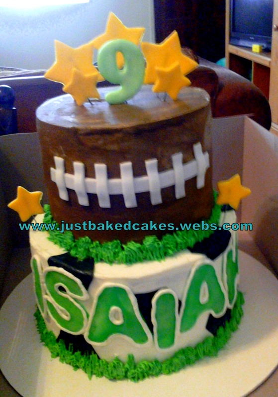Football Birthday Cake With Name