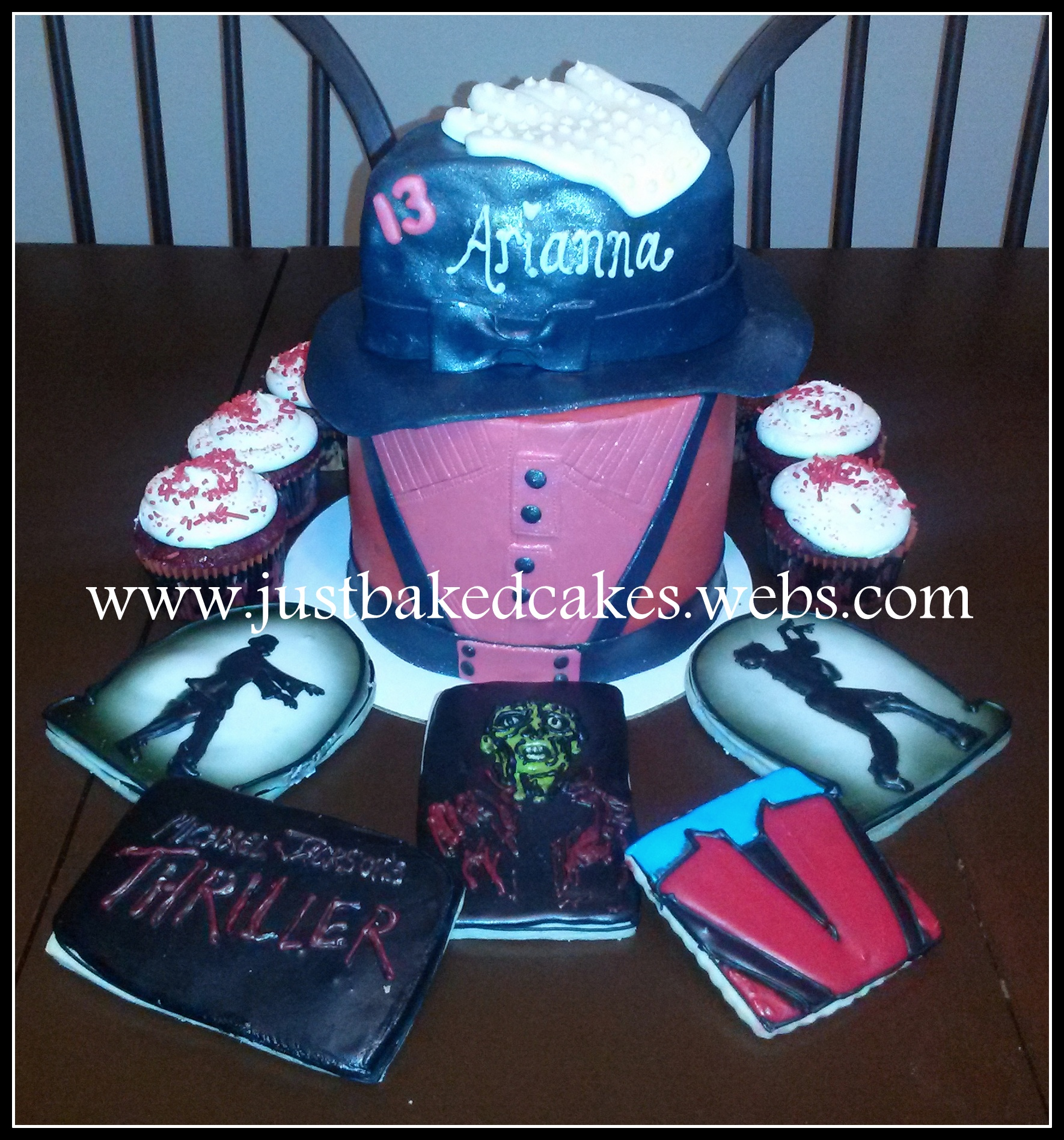 Micheal Jackson themed birthday cake