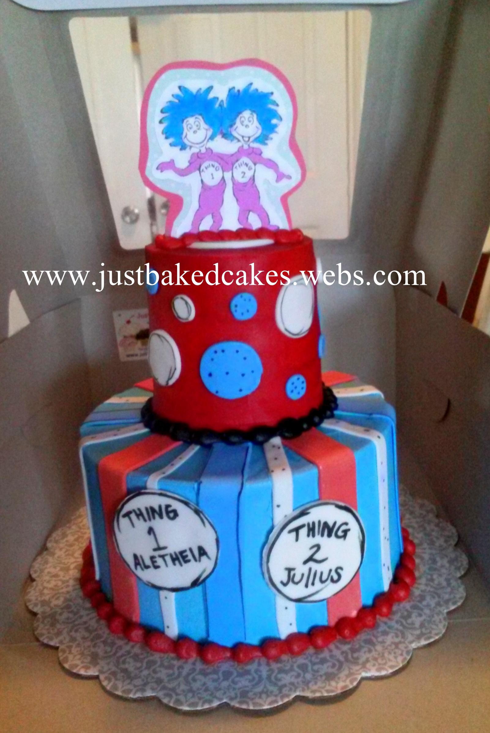 Thing 1 And Thing 2 Birthday Cake