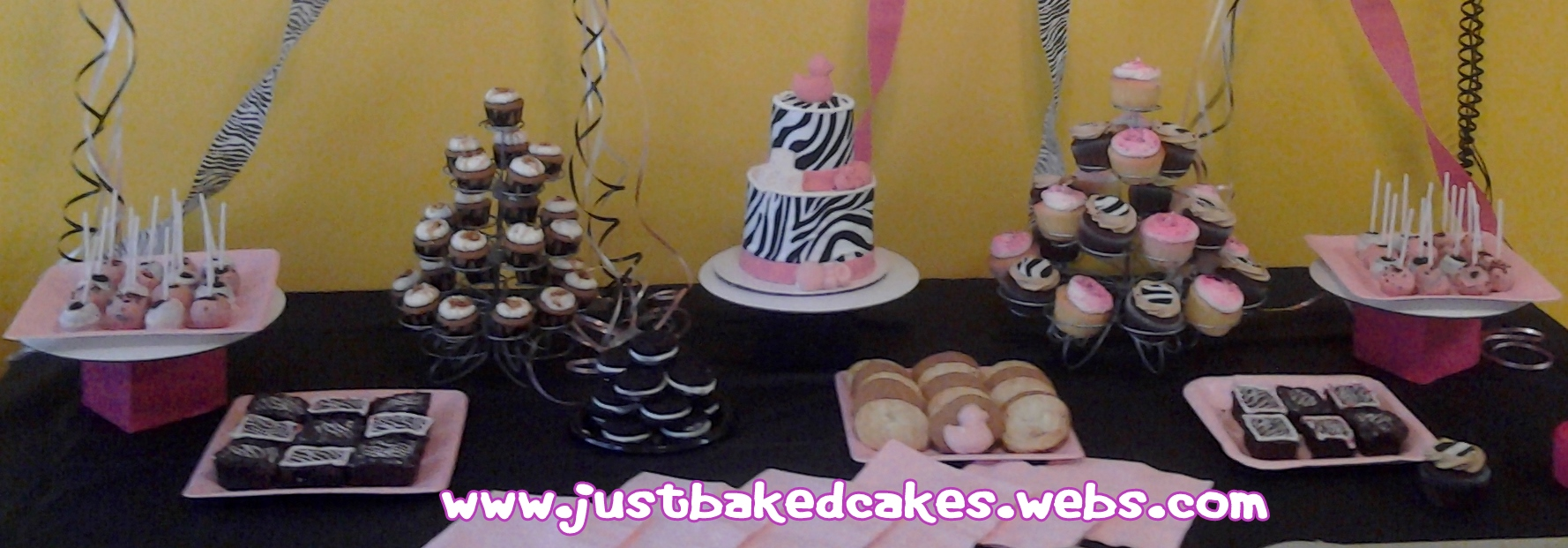Zebra/Pink Themed Dessert Table