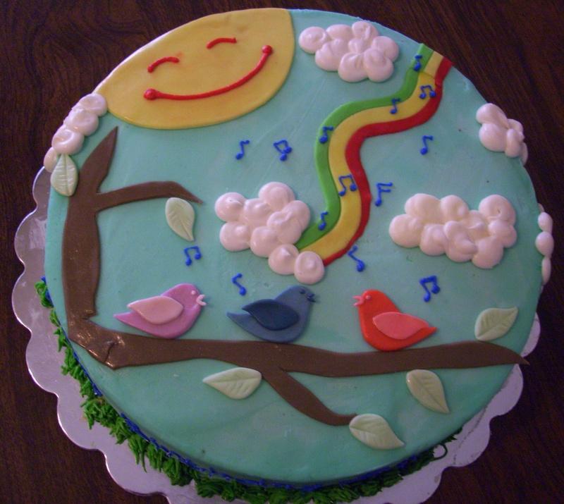 Three Little Birds / Bob Marley Birthday Cake