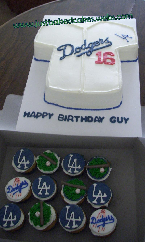 Astounding L A Dodgers Jersey Cake Funny Birthday Cards Online Benoljebrpdamsfinfo