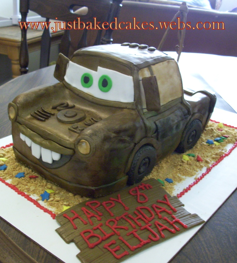 Mater Tow Truck Cars Birthday Cake