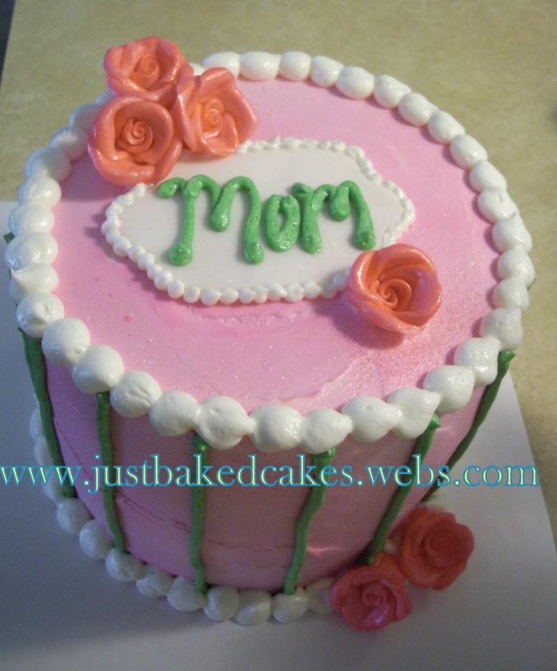 Pink Rose Mom Birthday Cake