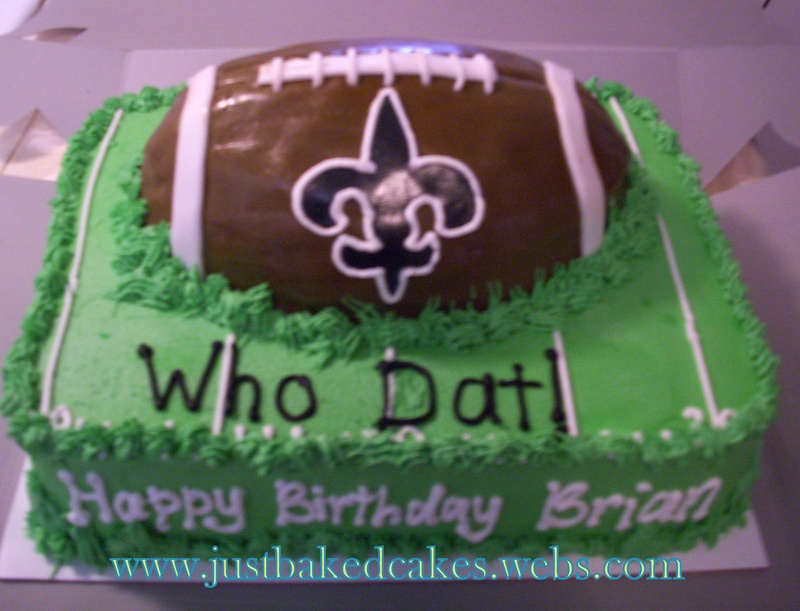 New Orleans Saints Football Birthday Cake