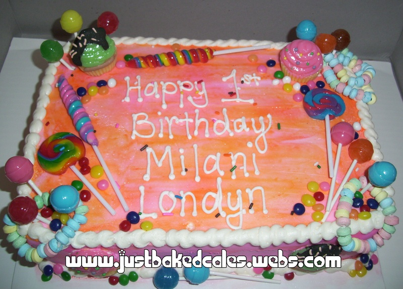 Candy Lollipop Themed Birthday Cake