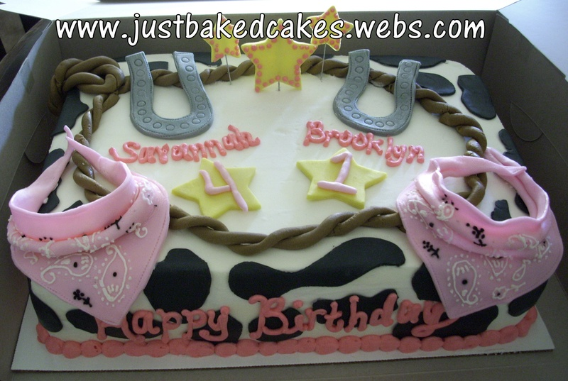 Outstanding Cowgirl Themed Birthday Cake Personalised Birthday Cards Bromeletsinfo