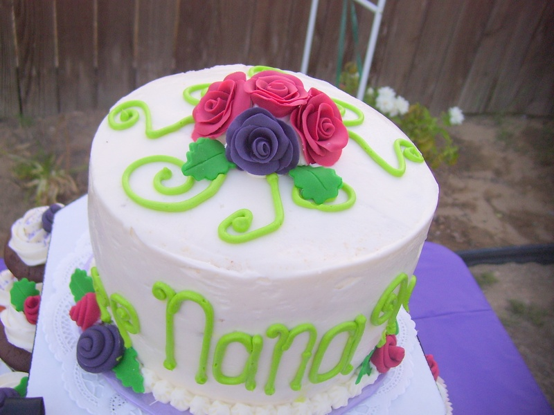 Rose Grandma Nana Birthday Cake