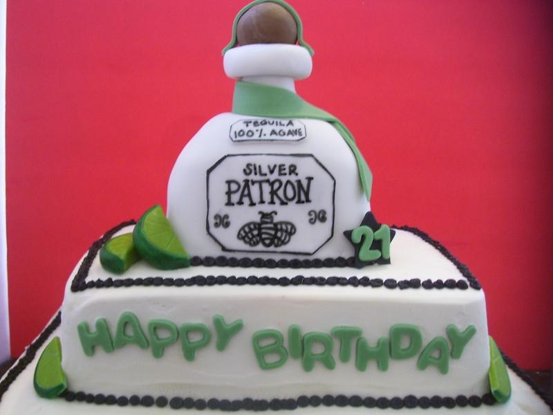Tequila Cake - Patron birthday cake