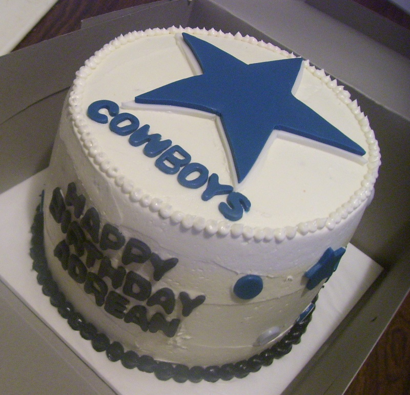 Dallas Cowboys Happy Birthday Cake
