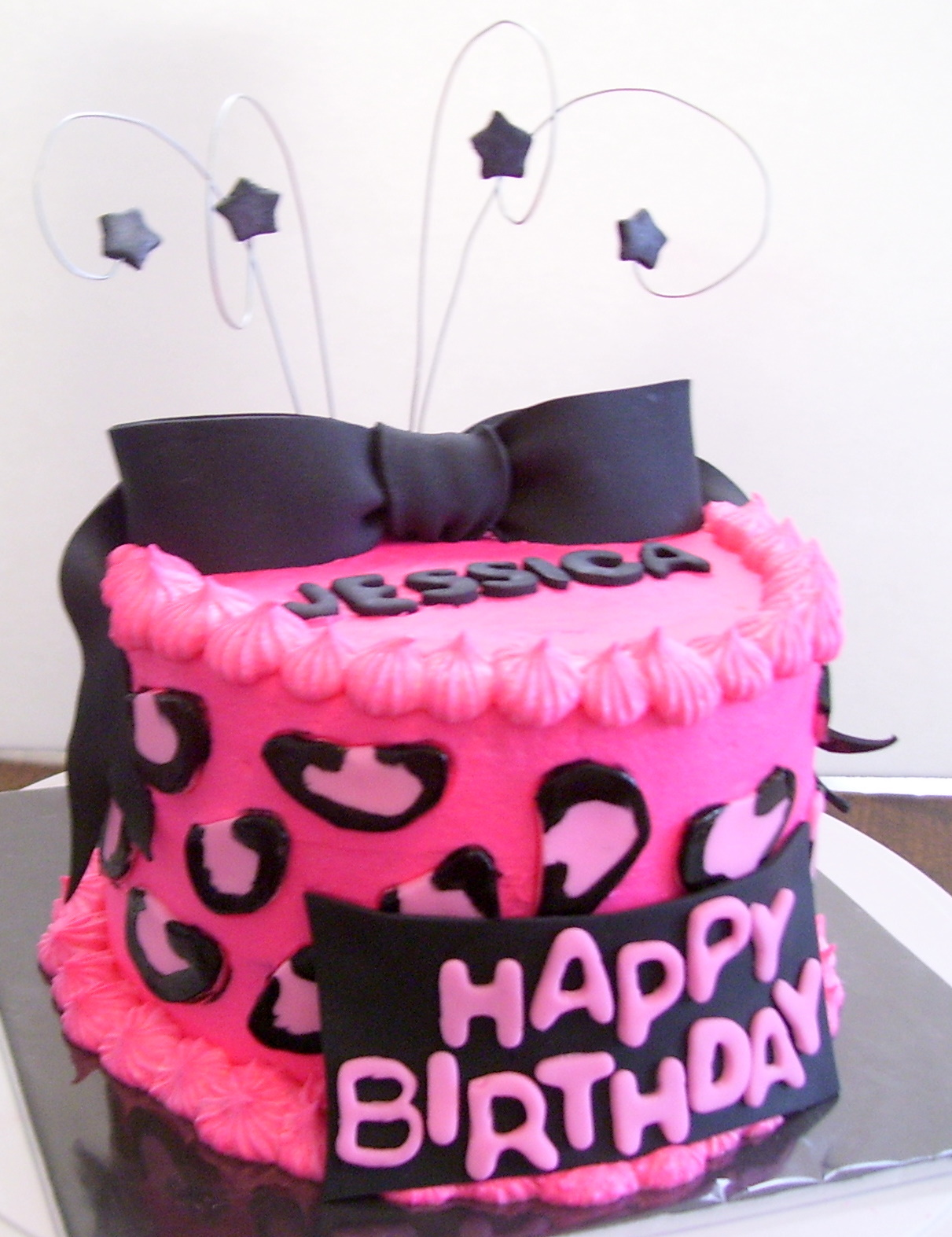 Hot Pink Cake Images : Hot Pink Cheetah Cake