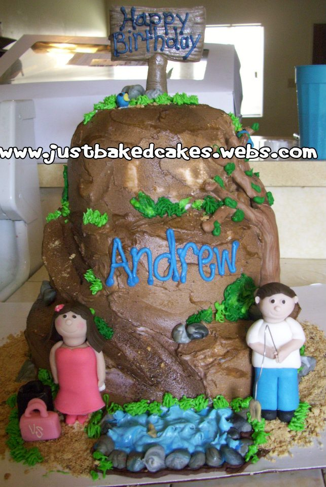 Fish Theme Birthday Birthday Cake http://justbakedcakes.webs.com/apps/photos/photo?photoid=142270279