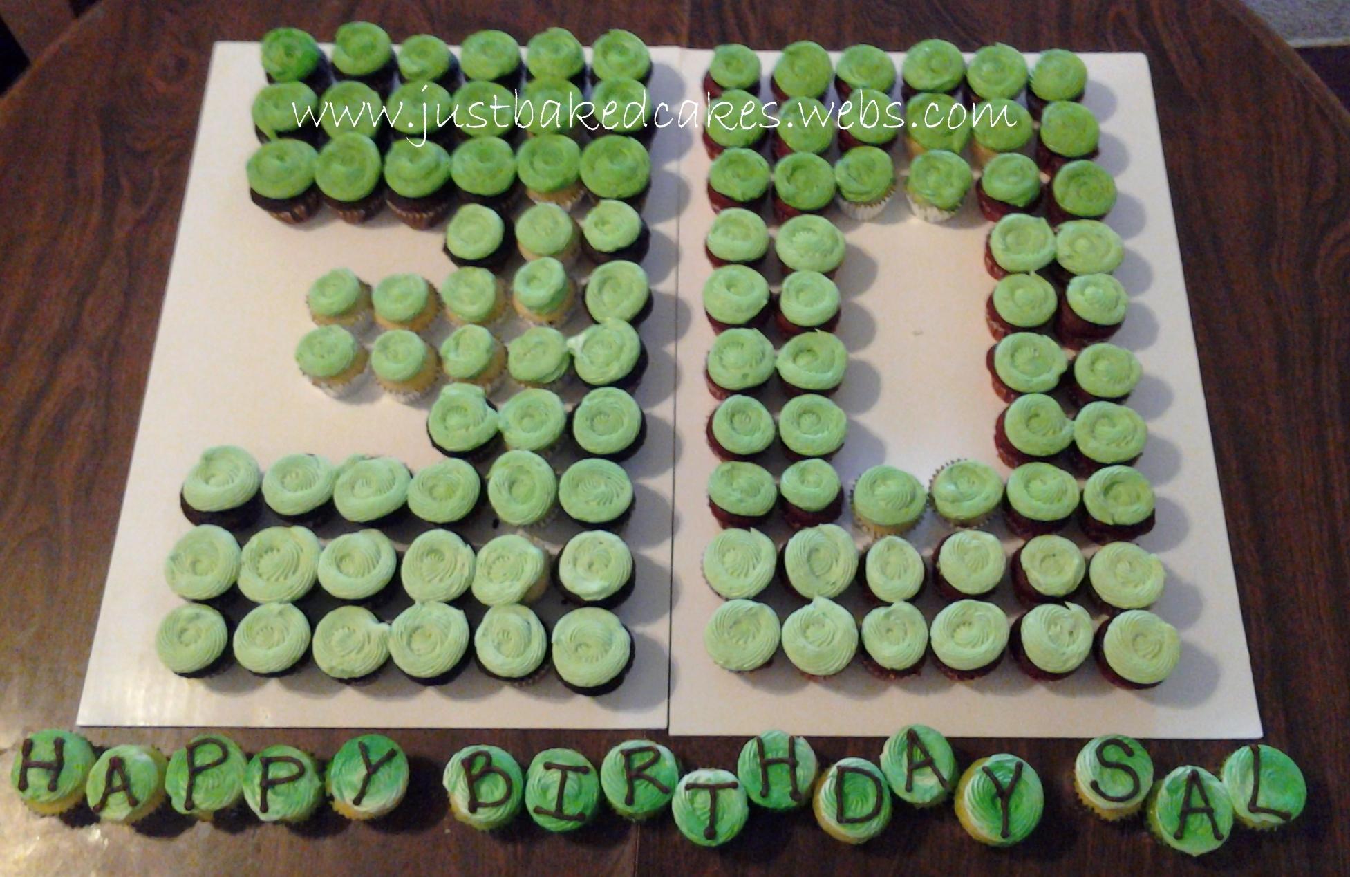 Cupcake Shaped Birthday Cake