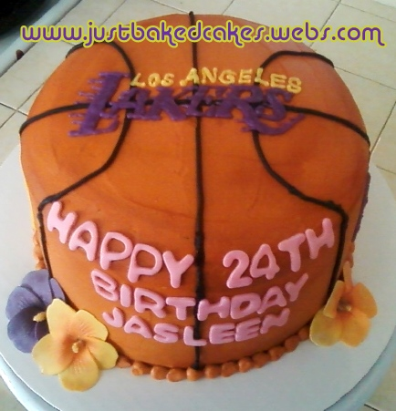 Basketball Girl Birthday Cake