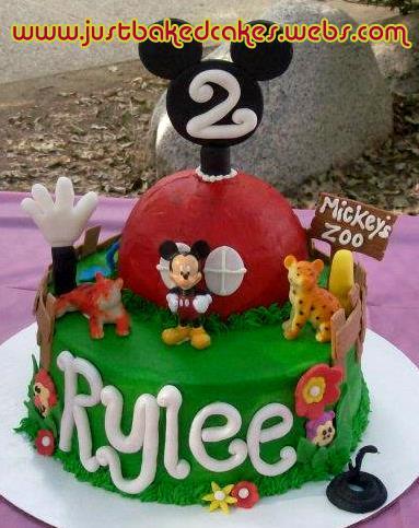 Mickey Mouse Zoo Themed Birthday Cake