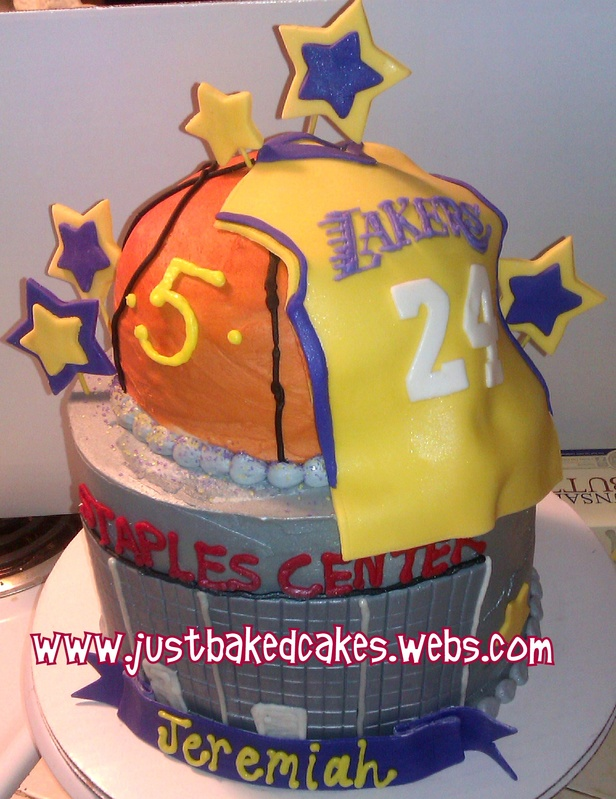 Miraculous Lakers Basketball Staples Center Birthday Cake Funny Birthday Cards Online Sheoxdamsfinfo