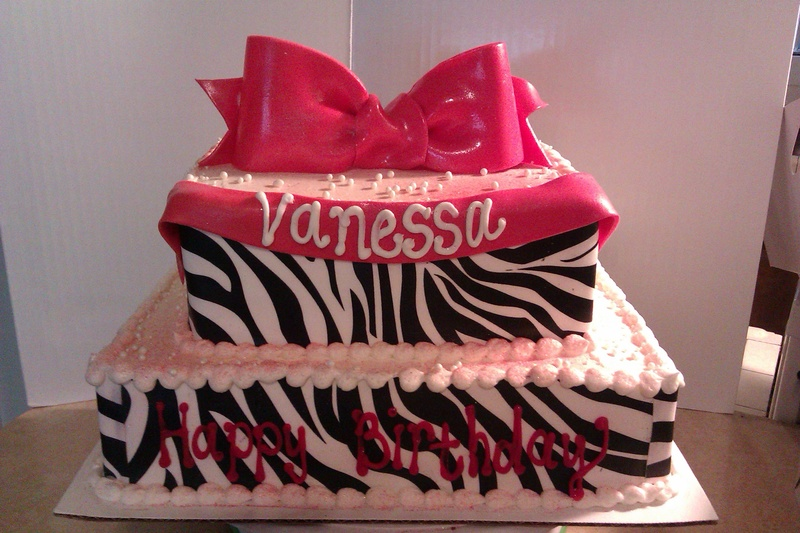 Awesome Zebra Print Birthday Cake Funny Birthday Cards Online Overcheapnameinfo