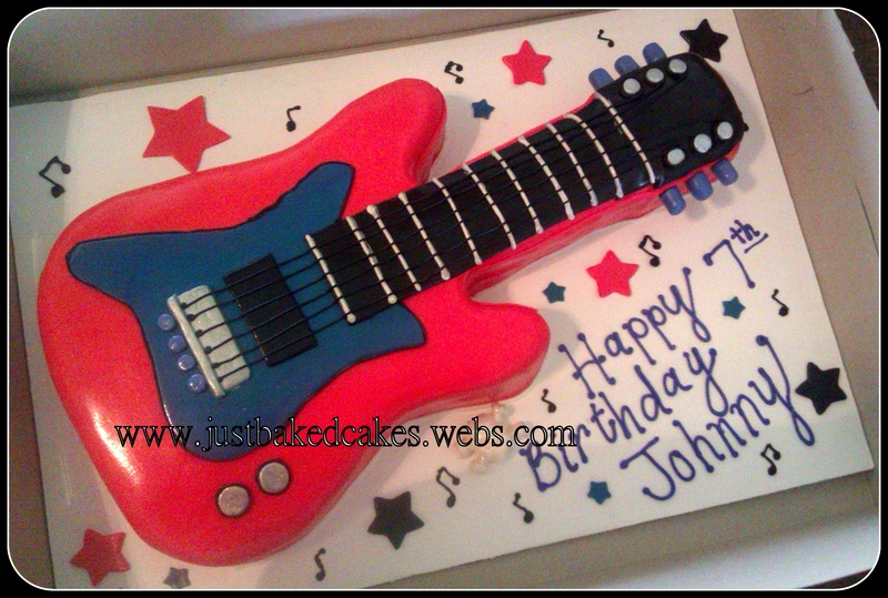 Guitar Cake Images With Name : Rock Star Guitar Cake
