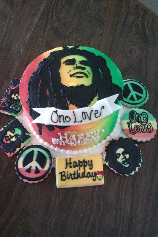 Bob Marley Rasta One Love Birthday Cake