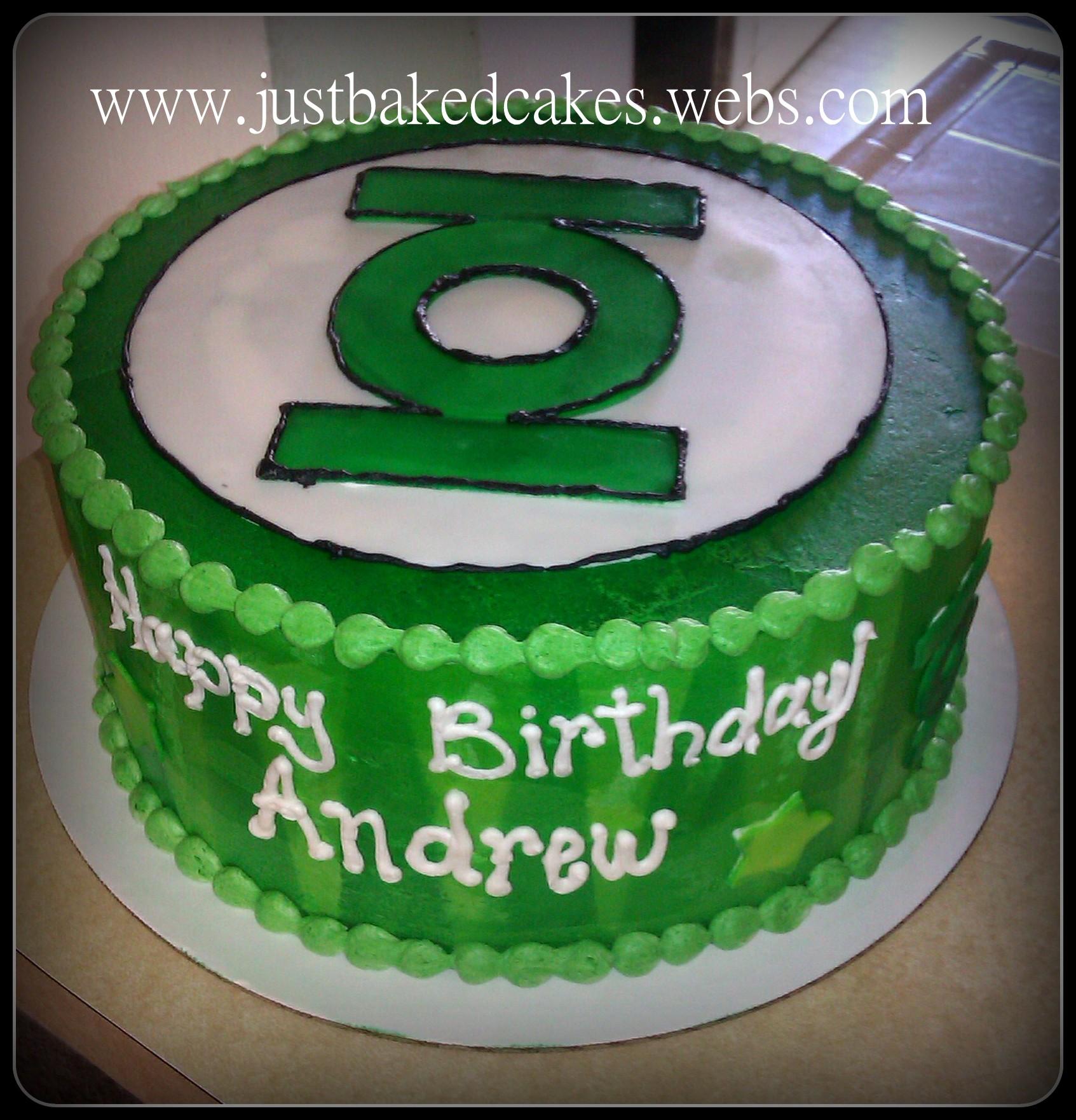 Green Lantern BIrthday Cake