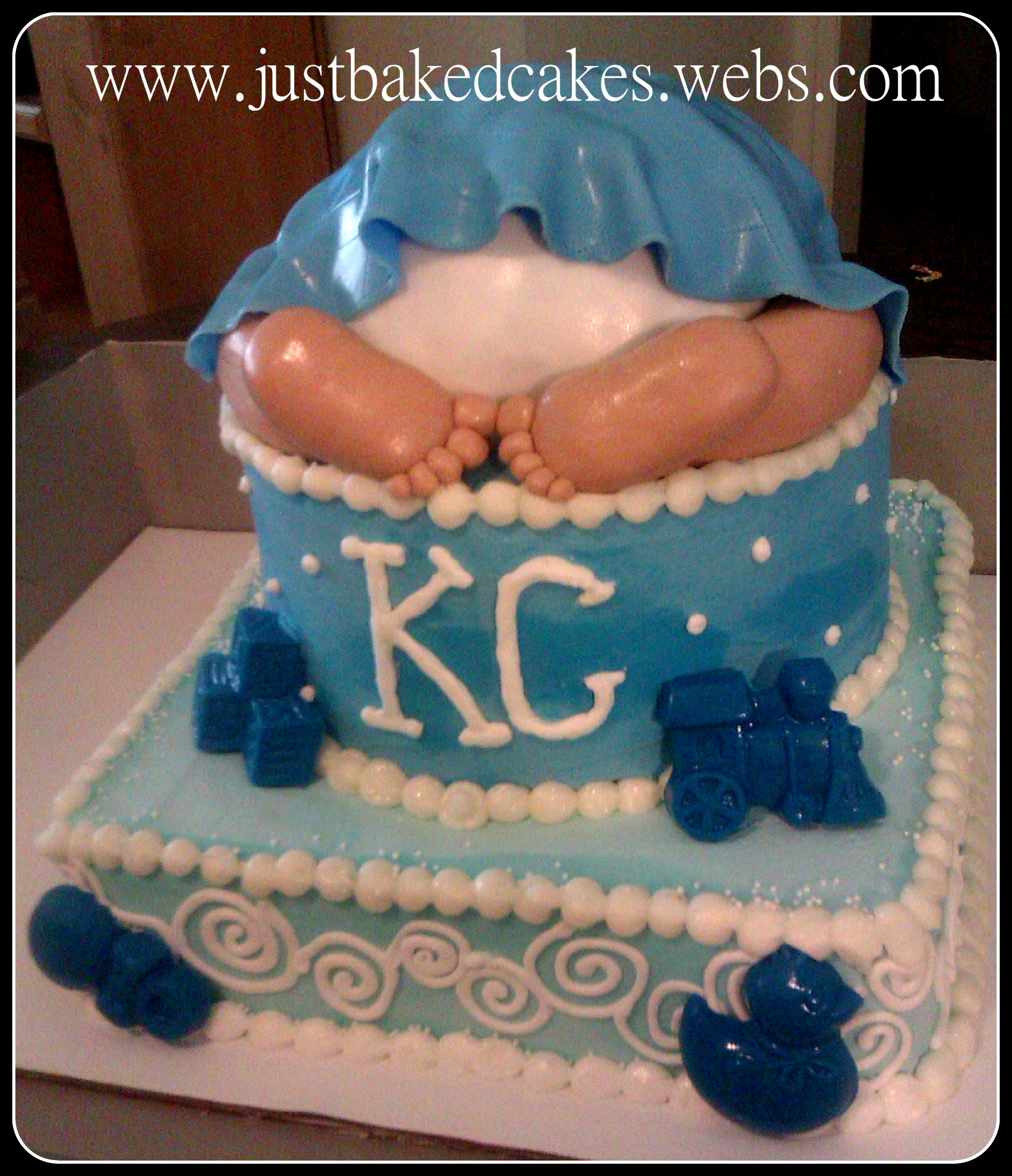 Boy Baby Bottom Baby Shower Cake