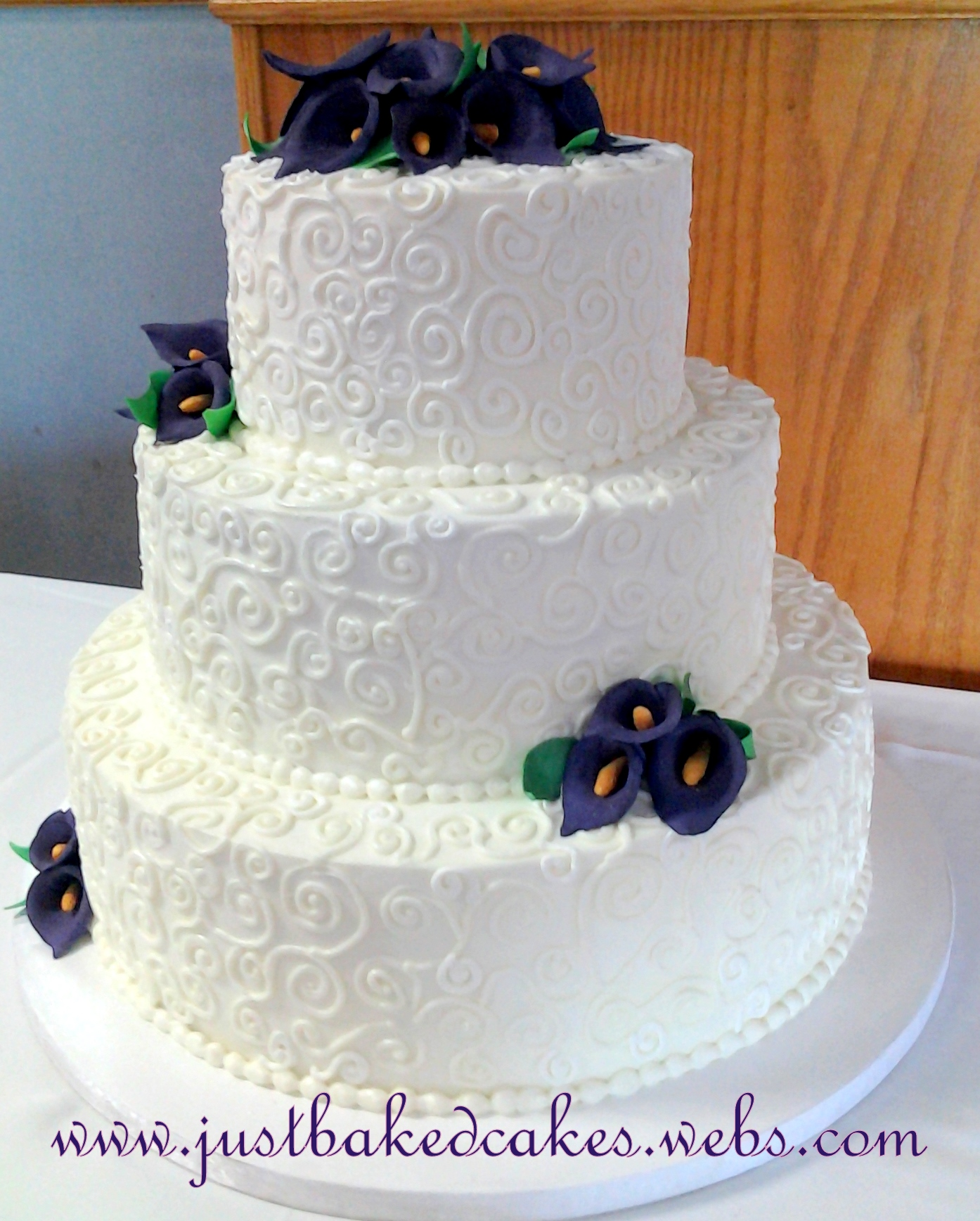 Purple Calla Lily Swirl Pattern Cake Just Baked Cakes