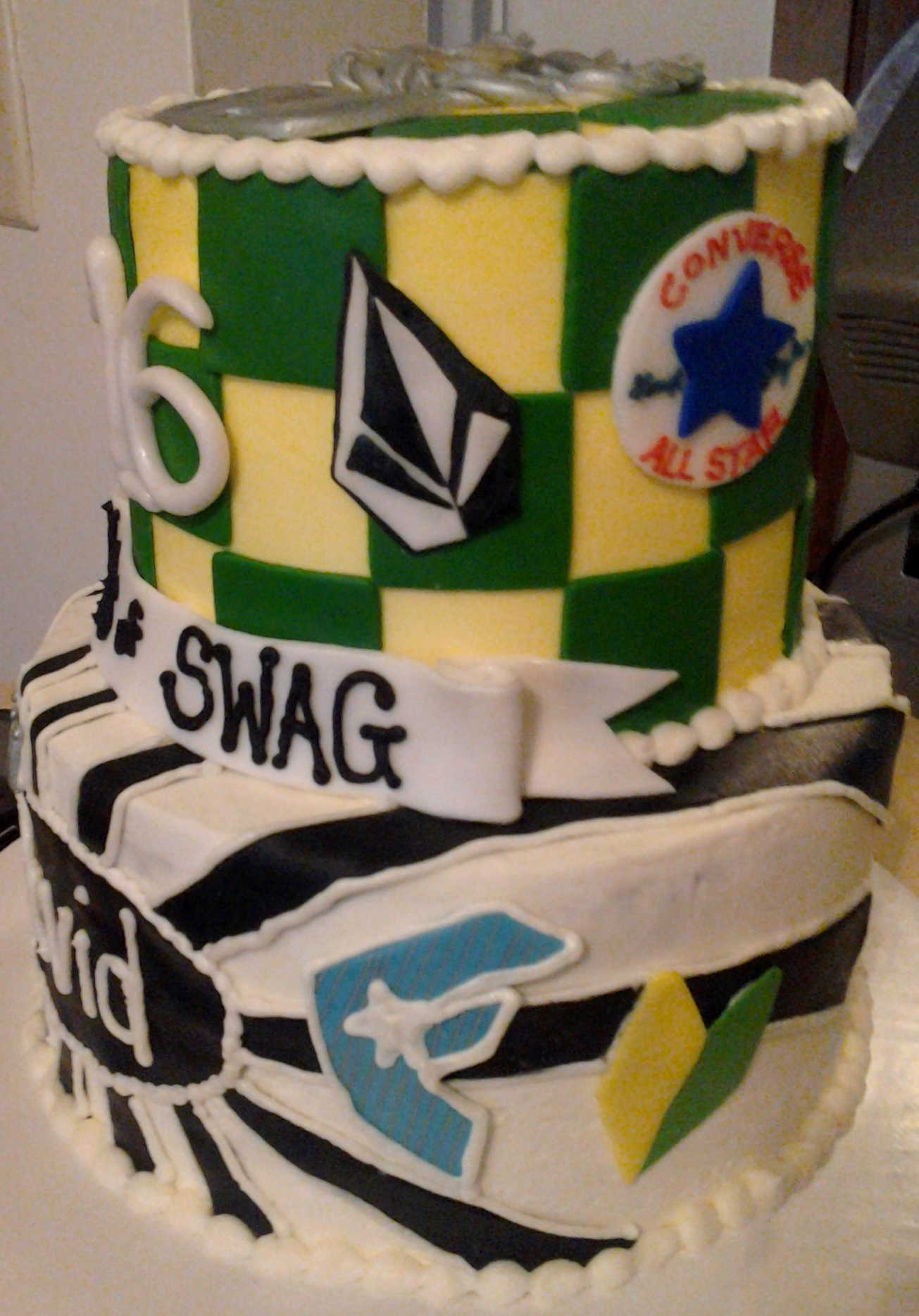 Swag 16 Year Old Boys Birthday Cake